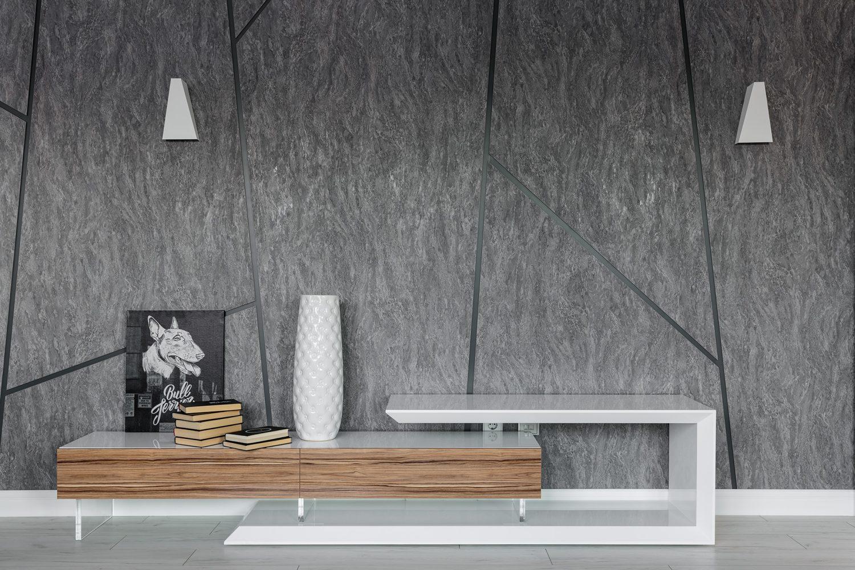 Дизайн и производство мебели в гостиную из дерева и металла