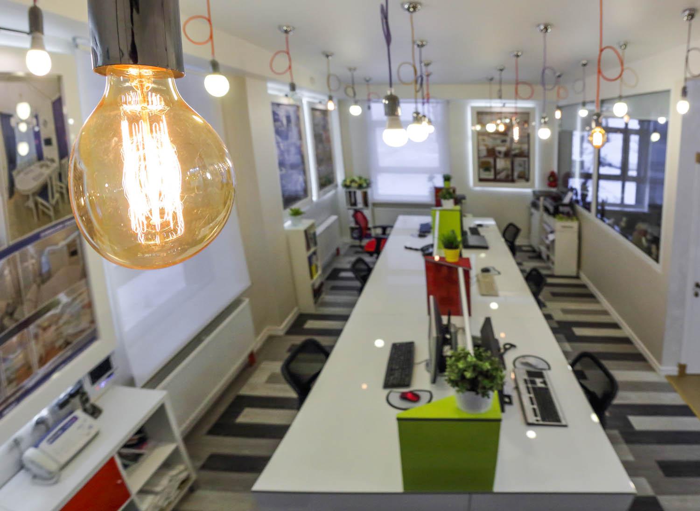 Дизайн интерьера рабочей зоны дизайн-студии