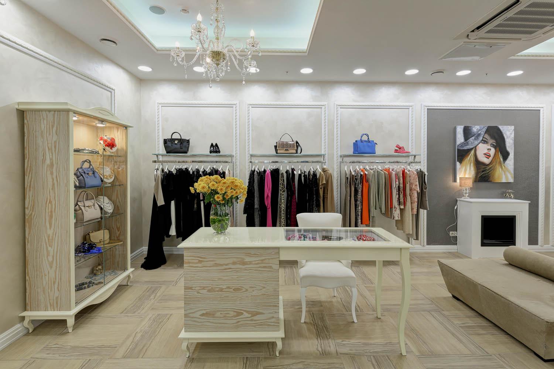 Дизайн интерьера бутика одежды