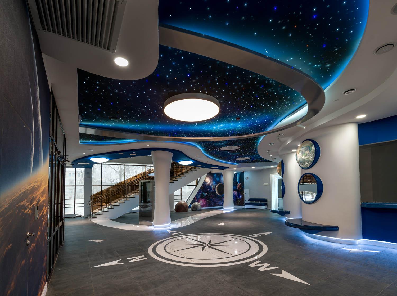 Дизайн интерьер космического центра