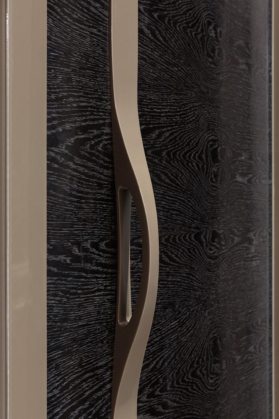 Дизайнерская дверь в прихожей квартиры