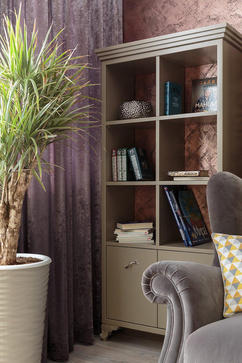Дизайн интерьера спальни с дизайнерской мебелью
