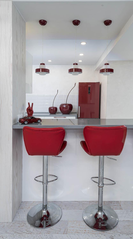 Дизайн интерьера барной стойки в небольшой квартире