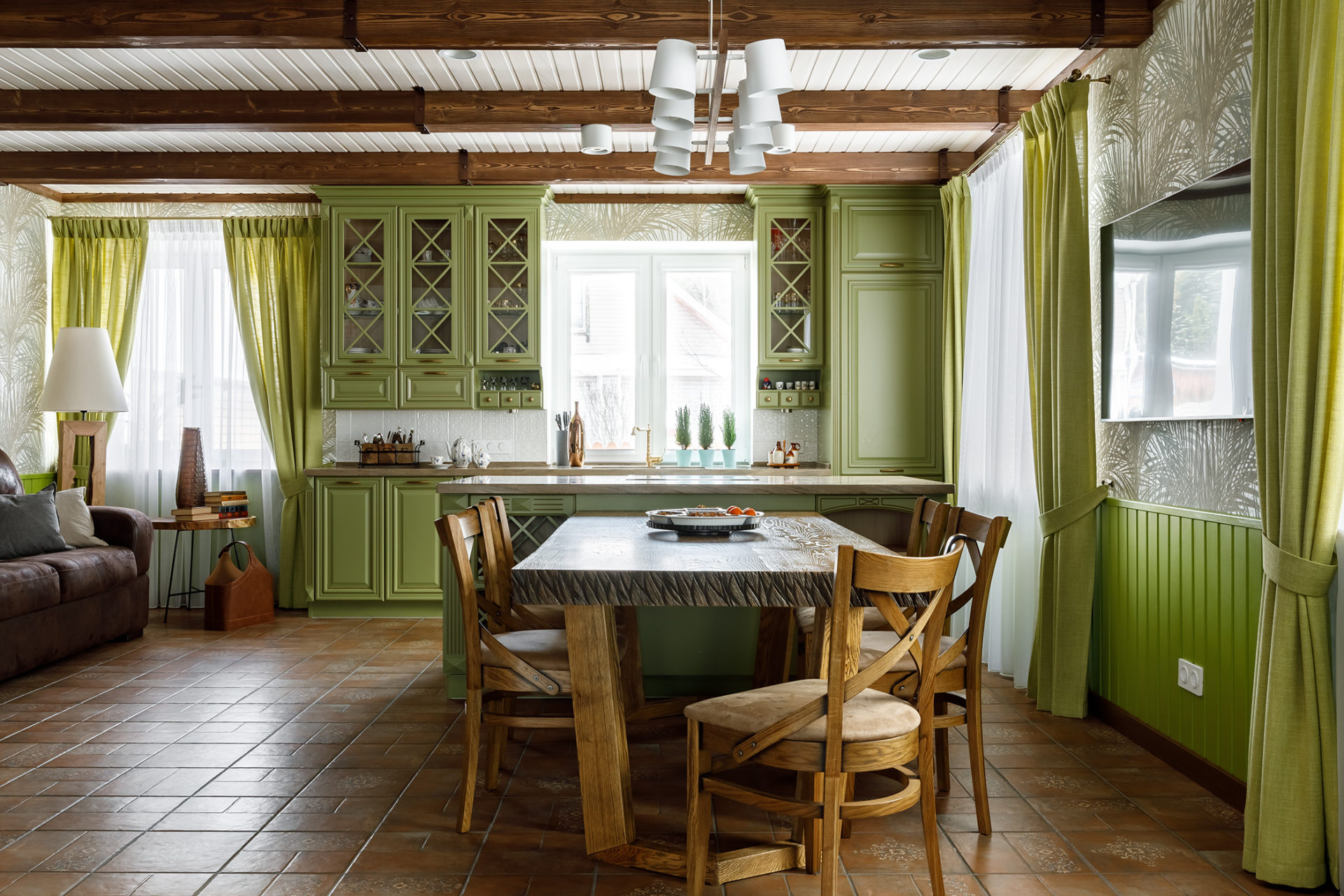 Кухня в проекте дома