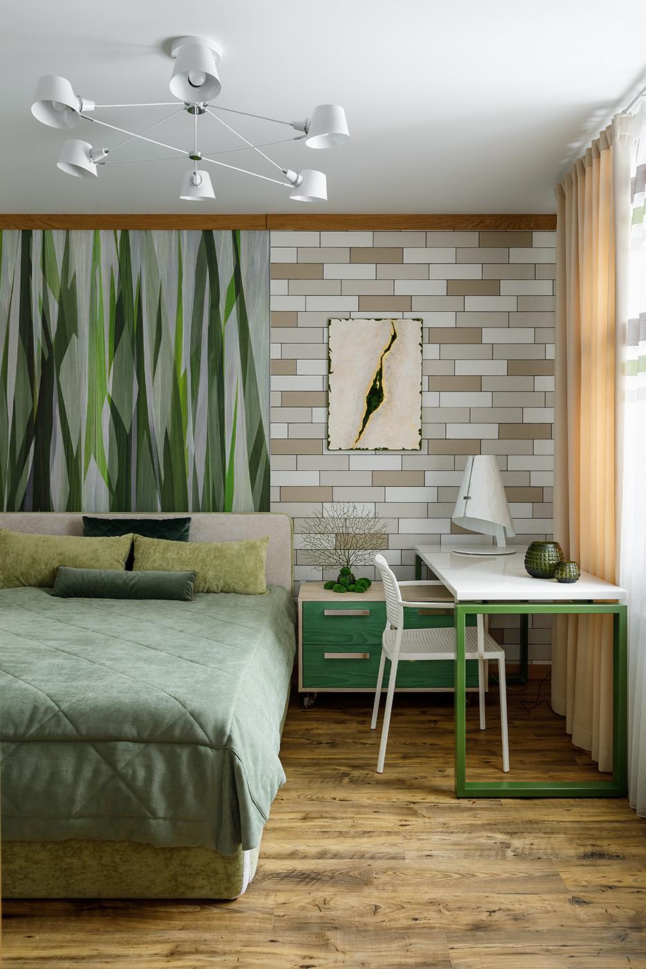 Спальня в проекте дома.