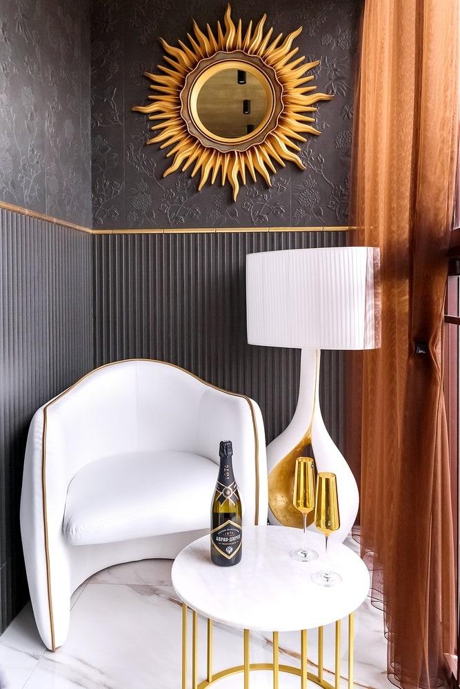 Дизайн квартиры в современном стиле и дизайнерской мебелью