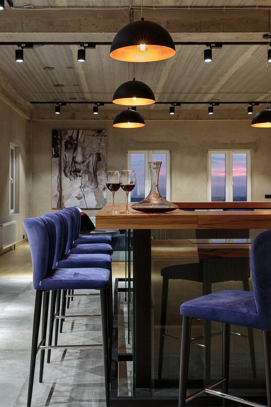 фото интерьера квартиры от 200 м2 в стиле лофт